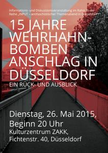 Veranstaltung Anschlag Düsseldorf Wehrhahn
